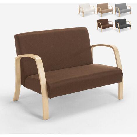 Sofa Holz- und Stoffsofa für Wohnzimmer Wartezimmer und Esbjerg Designstudio