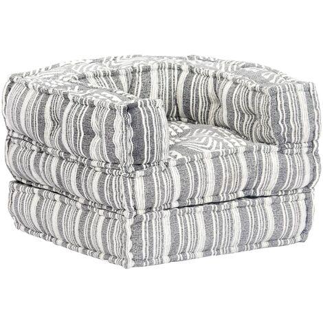Sofá modular de tela a rayas