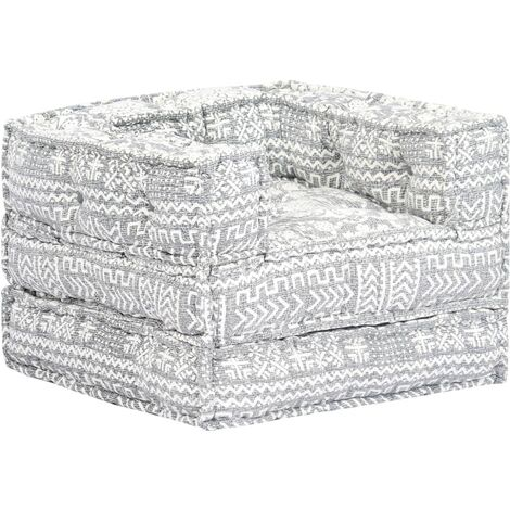Sofá modular de tela gris