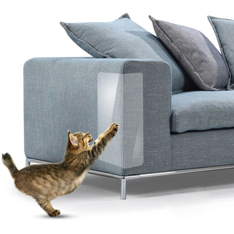 Sofa muebles proteccion gato rasguno pegatina, 4 piezas, XXL