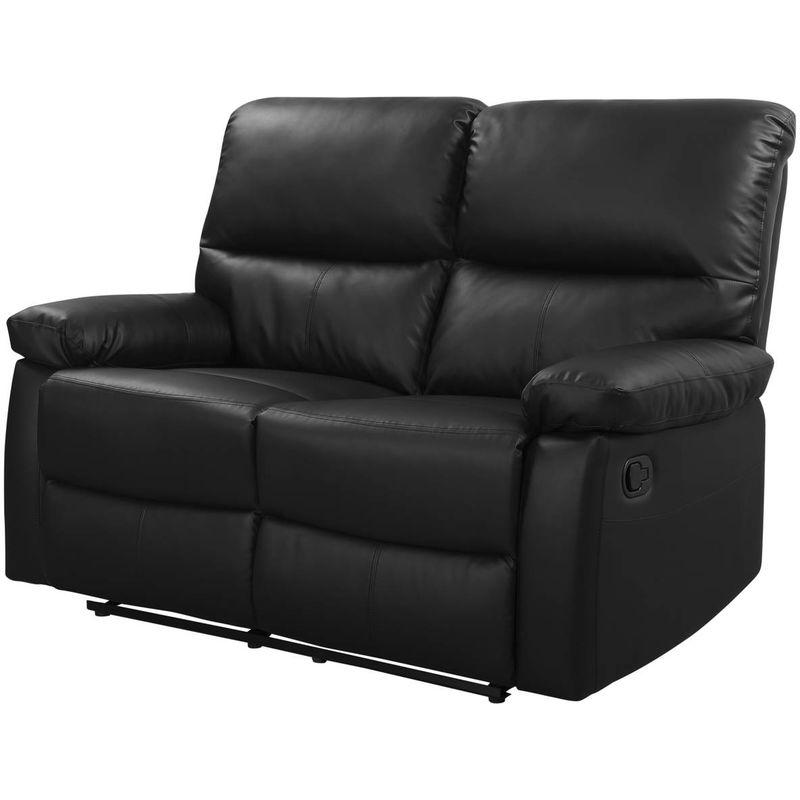 Relaxsofa Lincoln - 147 x 89 x 103 cm - 2-Sitzer - Schwarz - HABITAT ET JARDIN