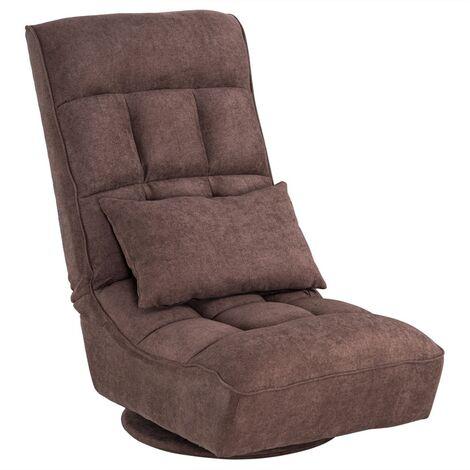 Sofa Single Chair Dark Brown Recliner,Adjustable Sofa for Living Room 61x66x87.5cm