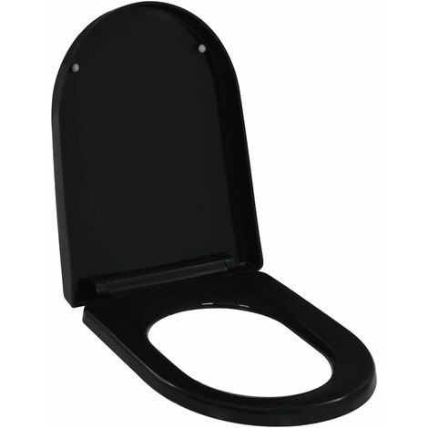 Soft-close Toilet Seat with Quick-release Design Black