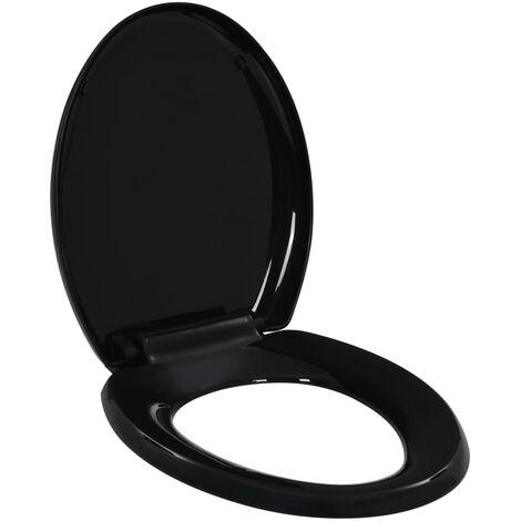 Soft-close Toilet Seat with Quick-release Design Black - Black