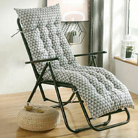 Soft Cotton Seat Pad Replacement Cushion Pad Garden Sun Lounger Recliner Chair 155x48x8cm Simple style