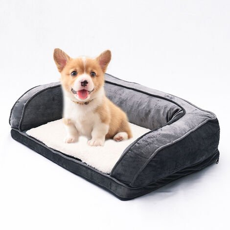 Soft Dog Pet Warm Sofa Bed Cushion Mattress Grey 70x50x25cm