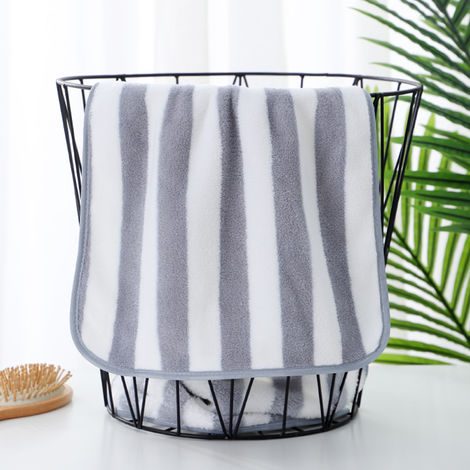 Soft Fluffy Towels Coral Fleece Bathroom Towels Salon Towels Grey