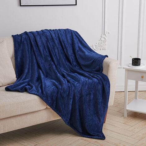 Soft Fluffy Warm Flannel Fleece Throw Blanket, Grey 200*150
