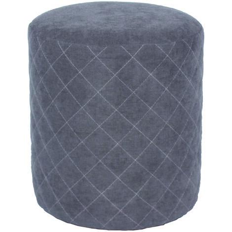 Soft Furnishings Round Stool, Grey Fabric