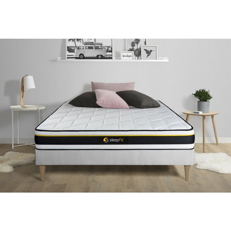 Sleepfit - SOFT Matratze 180x190cm, HD-Schaum mit Mikroluftzellen, Härtegrad 5, Höhe: 19cm, 3 Komfortzonen