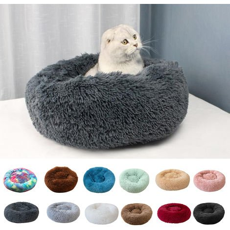 Soft Plush Round Pet Bed Cat Soft Bed Cat Bed, light green-diameter 70cm