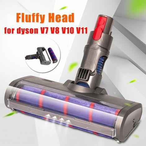 Soft Roller Bürstenkopf für Dyson V7 V8 V10 V11 Staubsauger Boden weiß flauschige Bürste