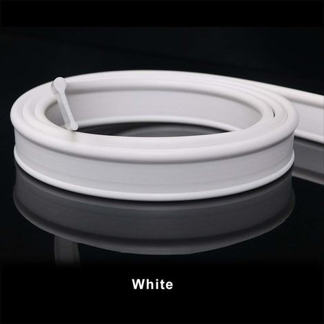 Soft Rubber Shower Seal for Folding Bath Screen Enclosure 1.2 Metre Long Colour