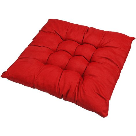 Soft Square Red Chair Cushion