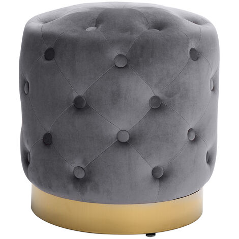 Soft Stool Vanity Chair Velvet Footstool Gold Metal Base Dressing Table Stool