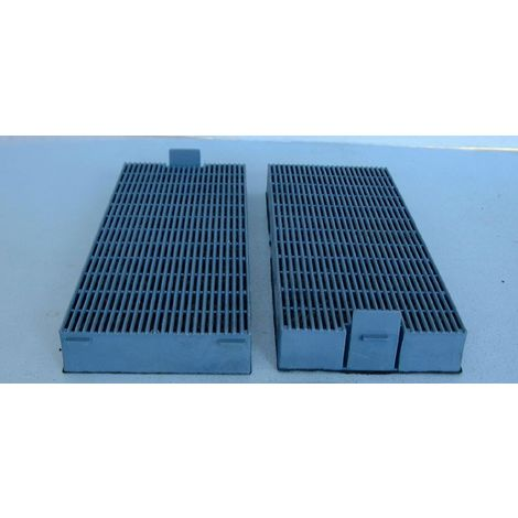 SOGELUX filtros carbon 999009 rectangulares para campana (lote de 2)