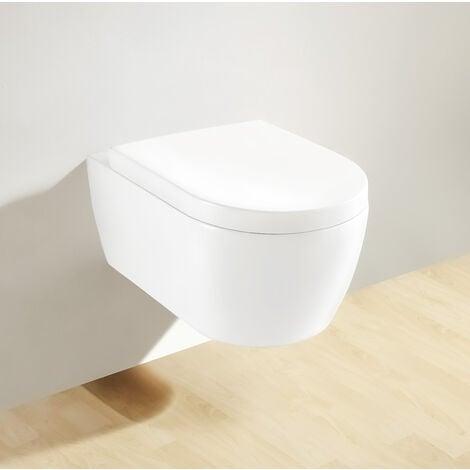 Soho Hänge Wand WC RIMLESS / RANDLOS Toilette Brillant Weiss mit WC-Sitz