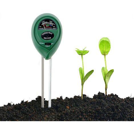 Soil Tester Kit, 3 in 1 Soil Tester Moisture Meter, Light and PH Acidity Tester, For Flowers / Grass / Plant / Garden / Farm / Lawn (no need for battery)