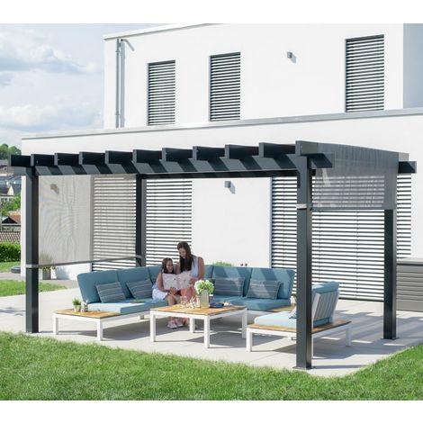 Sojag Aluminium Pavillon Gazebo Yamba Pergola 10x16 anthrazit 295x495 cm