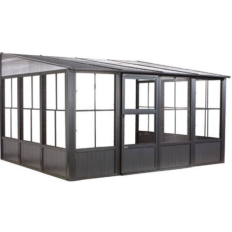 Sojag Aluminium Pavillon und Wintergarten Mural 10x13, 309x404x244 cm