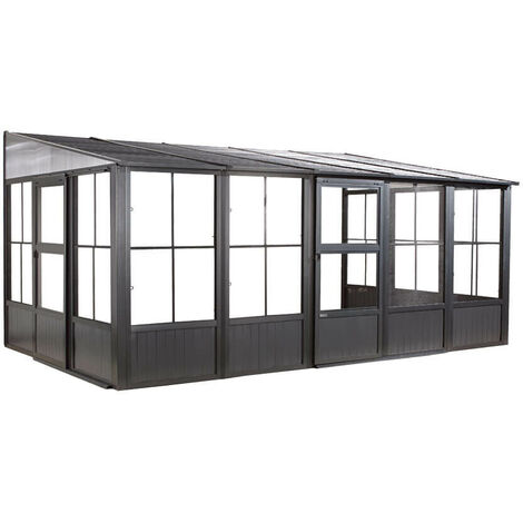 Sojag Aluminium Pavillon und Wintergarten Mural 10x16, 309x502x244 cm