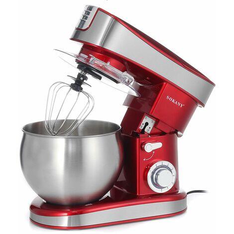 SOKANY 3 en 1 mélangeur sur socle automatique électrique 6.5L 304 bol en acier inoxydable fouet à oeufs pate crème mélangeur hachoir à viande 1200W
