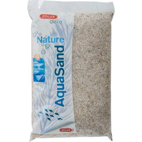 Sol décoratif Aquasand quartz blanc 5kg