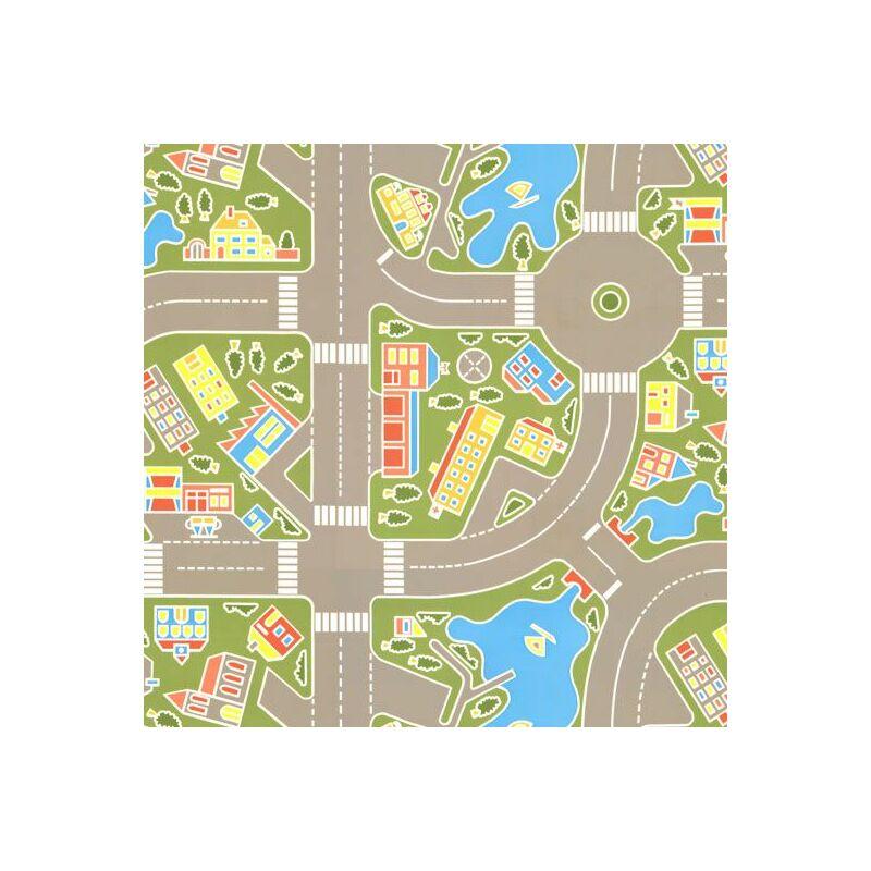 Les rues de la ville verte 2 x 4m Sol Vinyle Plastique Lino pour les enfants