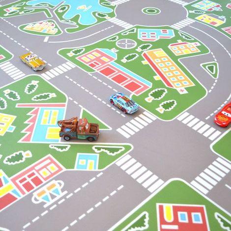 Sol Plastique pour les enfants - Les rues de la ville verte