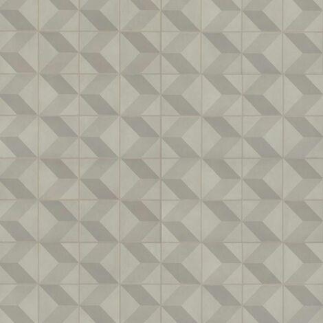 Sol PVC à clipser - boite de 9 dalles - 1,67m² - Starfloor Click 30 - imitation carrelage Cube 3D Grey - Tarkett
