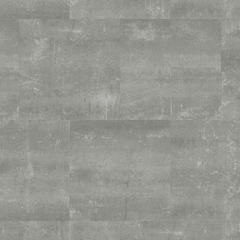 Sol PVC à clipser - boite de 9 dalles - 1,75m² - Essentiel Click 30 - design béton Composite Cool Grey - Tarkett