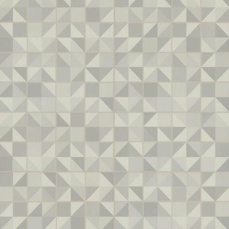Sol PVC à clipser - boite de 9 lames - 1,67m² - Starfloor Click 30 - imitation carrelage Puzzle Light Grey - Tarkett