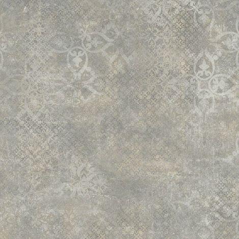 Sol PVC Best - Aspect béton ciré marqué - Gris et marron - 3 x 6m