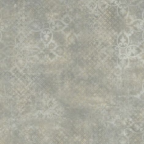 Sol PVC Best - Aspect béton ciré marqué - Gris et marron - 4 x 3m