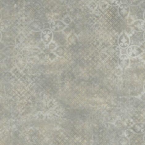 Sol PVC Best - Aspect béton ciré marqué - Gris et marron - 4 x 6m