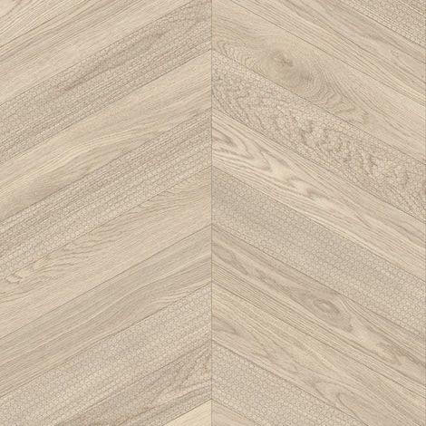 Sol PVC Best - Effet parquet chevron marqué - Bois clair - 3 x 7m
