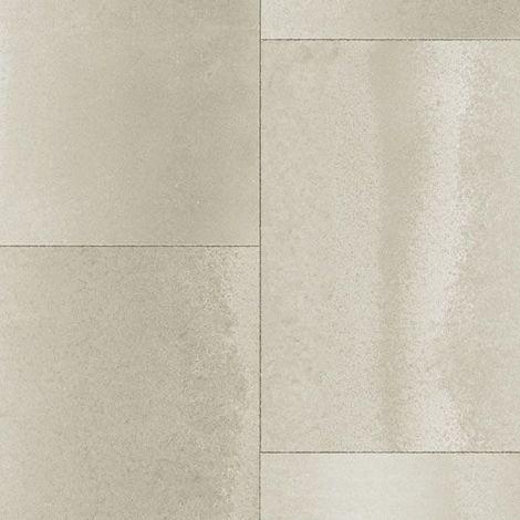 Sol PVC Best - Motif carrelage rectangulaire - Béton grège