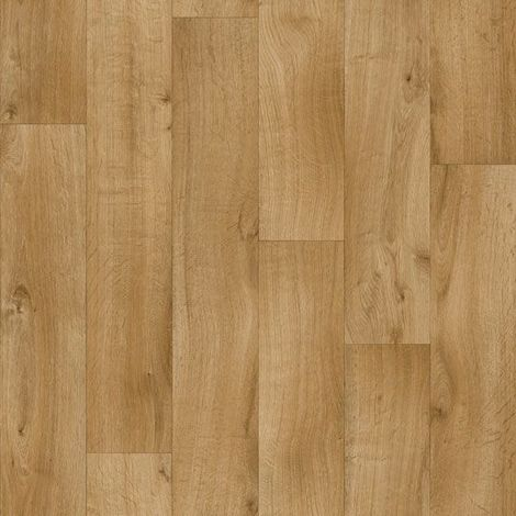 Sol PVC Premium Envers Textile - imitation Parquet brun