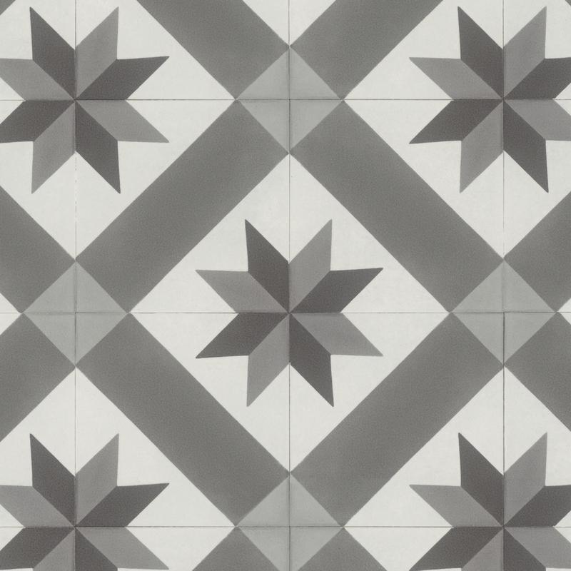 Sol Pvc Rouleau Imitation Carreau De Ciment Gerflor Texline 2078