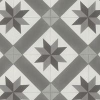 """Sol pvc rouleau imitation carreau de ciment   Gerflor Texline """"2078 Cordoba Grey"""""""
