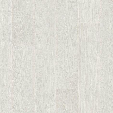 Sol PVC Sous Couche Textile - Parquet Chêne Grain fin - Blanc gris