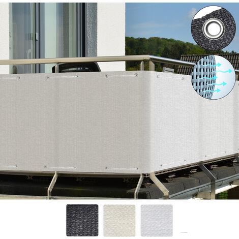 Sol Royal Protección Visual SolVision HB2 HDPE Pantalla Opaca 300x90 cm balcón privacidad con Ojales Cuerdas