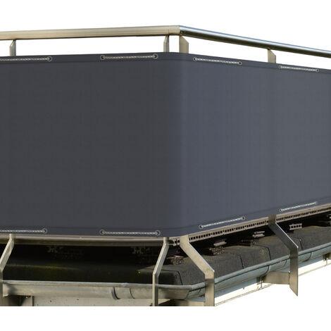 Sol Royal Protección Visual SolVision PB2 500x90cm PES Pantalla Opaca balcón privacidad con Ojales Cuerdas