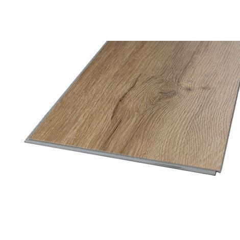 Sol SPC Vinyle haute résistance clipsable tout en un chêne clair 1,95 m² (couche d'usure de 0,5 mm) - Coloris - Chêne clair, Surface couverte en m² - 1,95