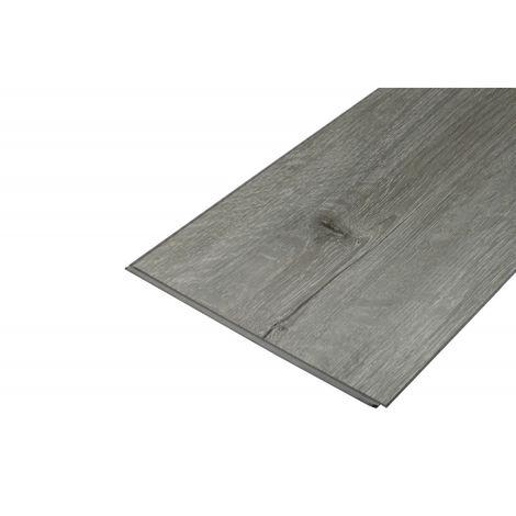 Sol SPC Vinyle haute résistance clipsable tout en un chêne gris 1,95 m² (couche d'usure de 0,5 mm) - Coloris - Chêne gris, Surface couverte en m² - 1,95