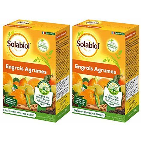 SOLABIOL - Engrais Agrumes 3KG - Nutrition Longue durée - SOAGY15