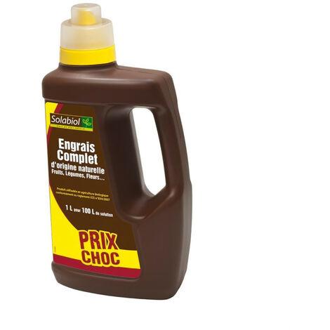 SOLABIOL - Engrais Liquide Complet - Prix Choc - Bidon 1 L - UAB