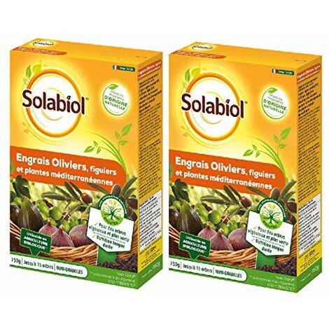 SOLABIOL - Engrais oliviers, figuiers et Plantes mediterraneennes 1kg500 - Nutrition Longue duree - SOLIVY750