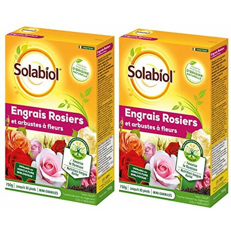 Solabiol - Engrais rosiers et arbustes a Fleurs 1.5kg Favorise la Floraison et Nutrition Longue durée - SOROSY750