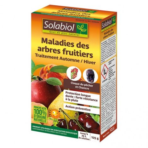 SOLABIOL - Fongicide maladies des arbres fruitiers - 125g